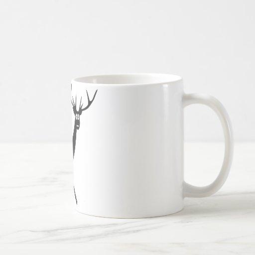 funny elk and bunny icon coffee mug