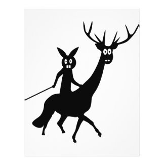 funny elk and bunny icon personalized flyer