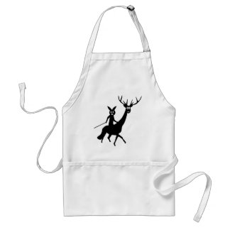 funny elk and bunny icon standard apron