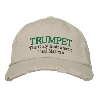 Funny Embroidered Trumpet Music Hat