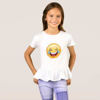 Funny Emoji crying with laughter and joy! T-Shirt