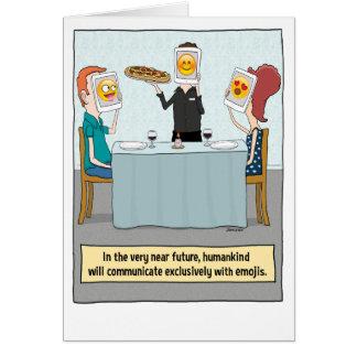 Funny Emoji Faces Birthday Card