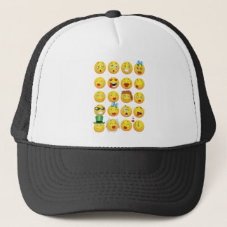 Funny Emoji Faces Cool Awesome Smiles Trucker Hat