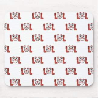 Funny Emoji Laughing Out Loud Pattern Mouse Pad
