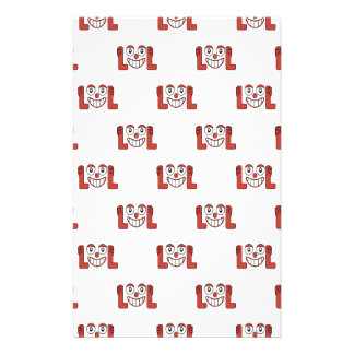 Funny Emoji Laughing Out Loud Pattern Personalized Stationery