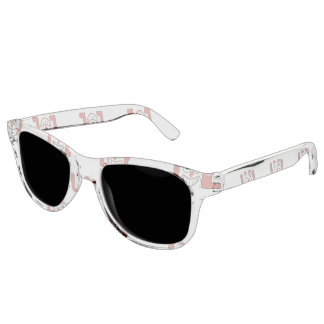 Funny Emoji Laughing Out Loud Pattern Sunglasses