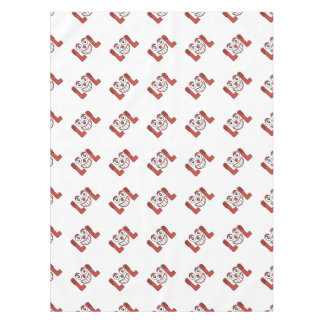 Funny Emoji Laughing Out Loud Pattern Tablecloth