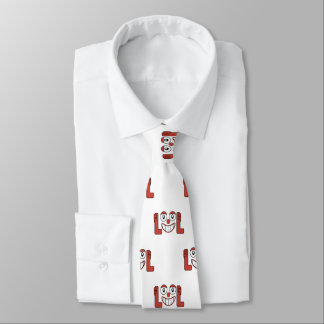 Funny Emoji Laughing Out Loud Pattern Tie
