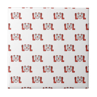 Funny Emoji Laughing Out Loud Pattern Tile