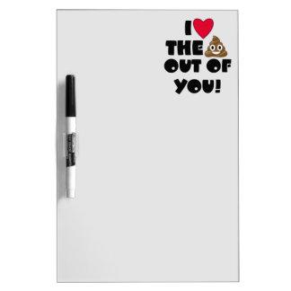 Funny Emoji Love Dry-Erase Whiteboard