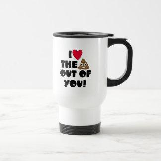 Funny Emoji Love Travel Mug