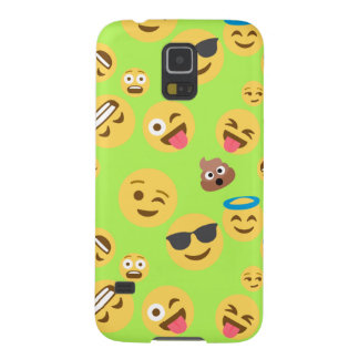 Funny Emoji Pattern (green) Cases For Galaxy S5