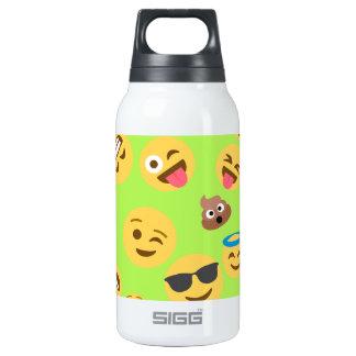 Funny Emoji Pattern (green) Insulated Water Bottle