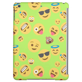 Funny Emoji Pattern (green) iPad Air Covers