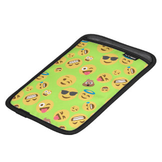 Funny Emoji Pattern (green) iPad Mini Sleeve