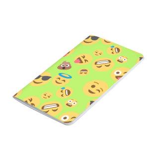 Funny Emoji Pattern (green) Journal