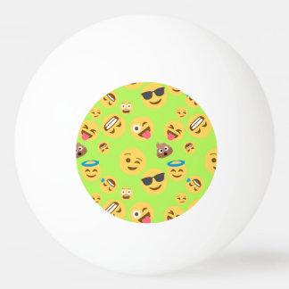 Funny Emoji Pattern (green) Ping Pong Ball