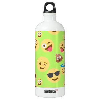 Funny Emoji Pattern (green) Water Bottle