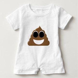 Funny Emoji Poo Baby Romper