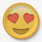 Funny emoji smiley paper plate