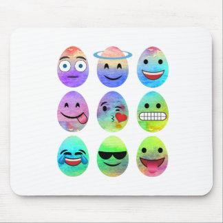 Funny Emojis, Easter Emoji Eggs, Emoticon Egg Mouse Pad