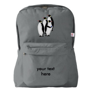 Funny Emperor Penguin On A Mobile Phone Device Backpack