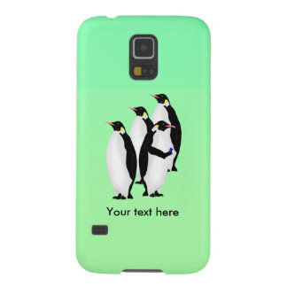 Funny Emperor Penguin On A Mobile Phone Galaxy S5 Case