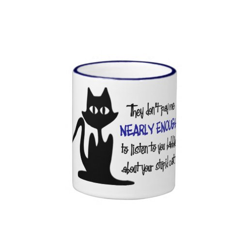 Funny Employee And Cat Coffee Cup For The Office Ringer