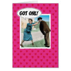 Funny engagement congratulations card