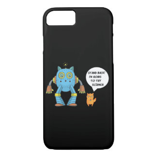 Funny Engineering Science Robotics And Angry Cat Case-Mate iPhone Case