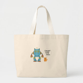 Funny Engineering Science Robotics And Angry Cat Large Tote Bag
