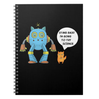 Funny Engineering Science Robotics And Angry Cat Notebook