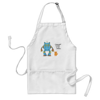Funny Engineering Science Robotics And Angry Cat Standard Apron