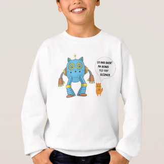 Funny Engineering Science Robotics And Angry Cat Sweatshirt