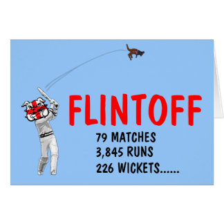 Funny English cricket Card