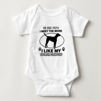 Funny english foxhound designs baby bodysuit