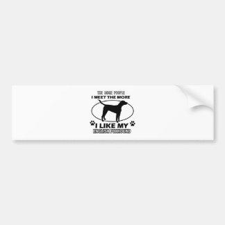 Funny english foxhound designs bumper sticker