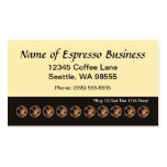 Funny Espresso Punch Card Coffee Beans Business Card