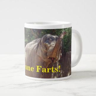Funny Everyone Farts! Elephant Large Coffee Mug