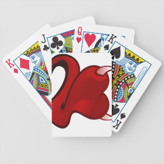 Funny Evil Heart Bicycle Playing Cards