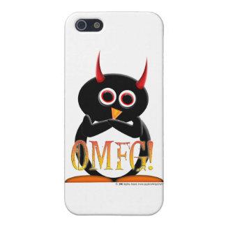 Funny Evil Penguin iPhone Case iPhone 5/5S Cover