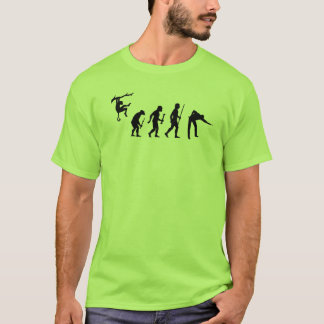 Funny Evolution of Man and Snooker T-Shirt