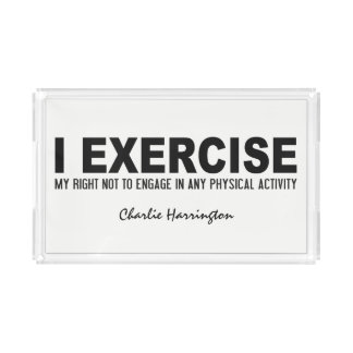 Funny Exercise custom name & color trays