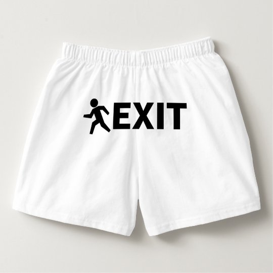 Funny EXIT SIGN boxer shorts for men Boxers