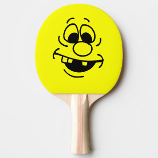 Funny Expression Yellow Smiley Face Ping Pong Paddle