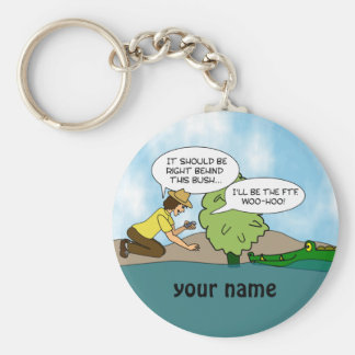 Funny  Extreme Cache Geocaching Swag Custom Name Keychain