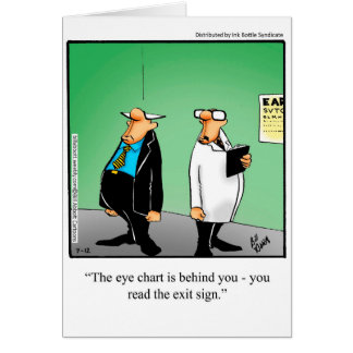 Funny Eye Chart Humour Greeting Card