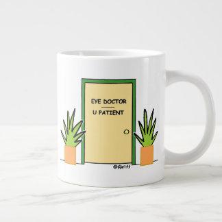 Funny Eye Doctor Optometrist Office Cartoon Coffee Large Coffee Mug