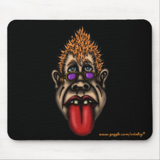 Funny face cool urban graphic mousepad design