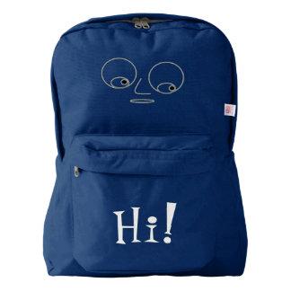 Funny Face Design Backpack
